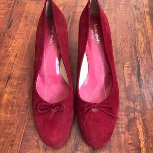 Kate Spade Red Velvet Heels ♠️